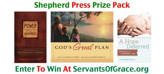 Shepherd Press Prize Pack 6th Annual 12 Days Before Christmas Giveaway   Day 7
