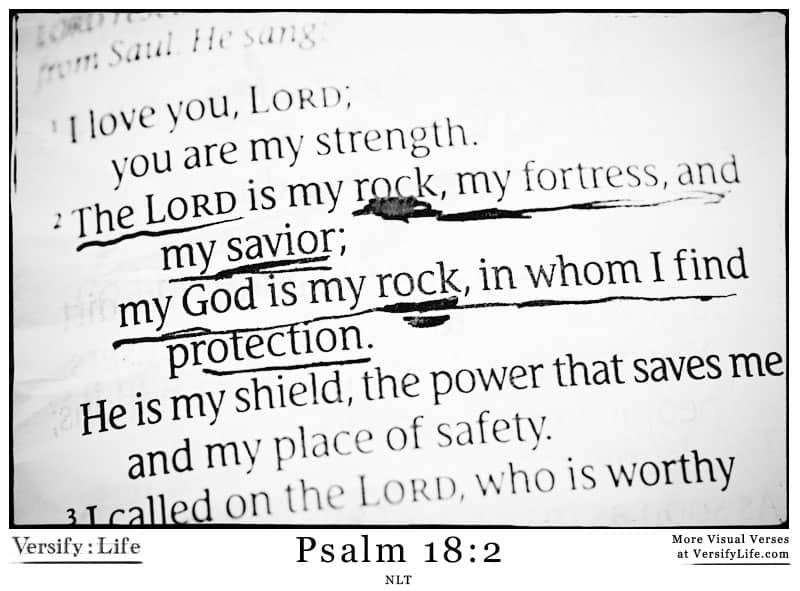 The Most Shared Verses In Their Context (Psalm 18:2)