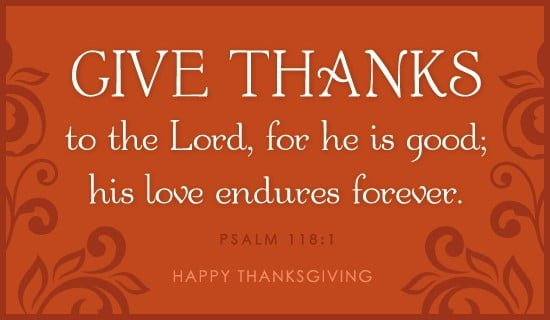 Thankfulness on Thanksgiving: Participating in the Joy of Giving Thanks to God