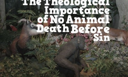 Lessons from the Garden:  The Theological Importance of No Animal Death Before Sin