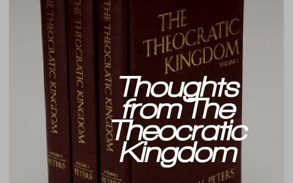 Thoughts from The Theocratic Kingdom:  Proposition 36