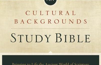 NIV Cultural Backgrounds Study Bible