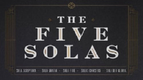 The Five Solas: God's Glory Alone
