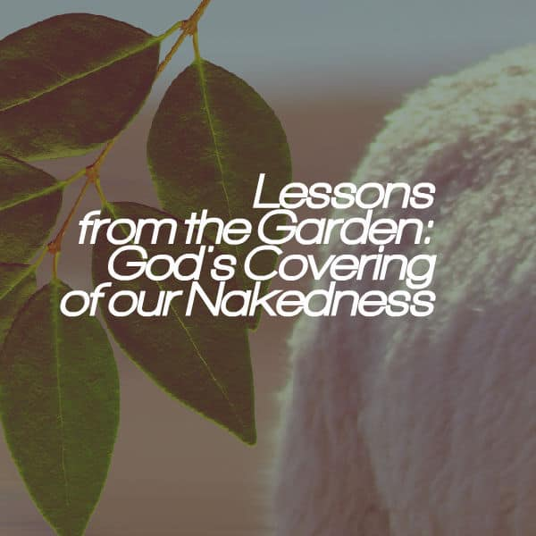 , Lessons from the Garden: God's Covering of our Nakedness, Servants of Grace