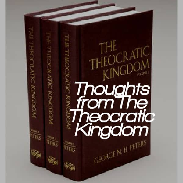 , Thoughts from The Theocratic Kingdom:  Proposition 52, Servants of Grace, Servants of Grace