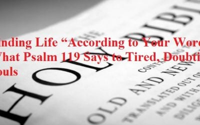 """Finding Life """"According to Your Word"""": What Psalm 119 Says to Tired, Doubting Souls"""