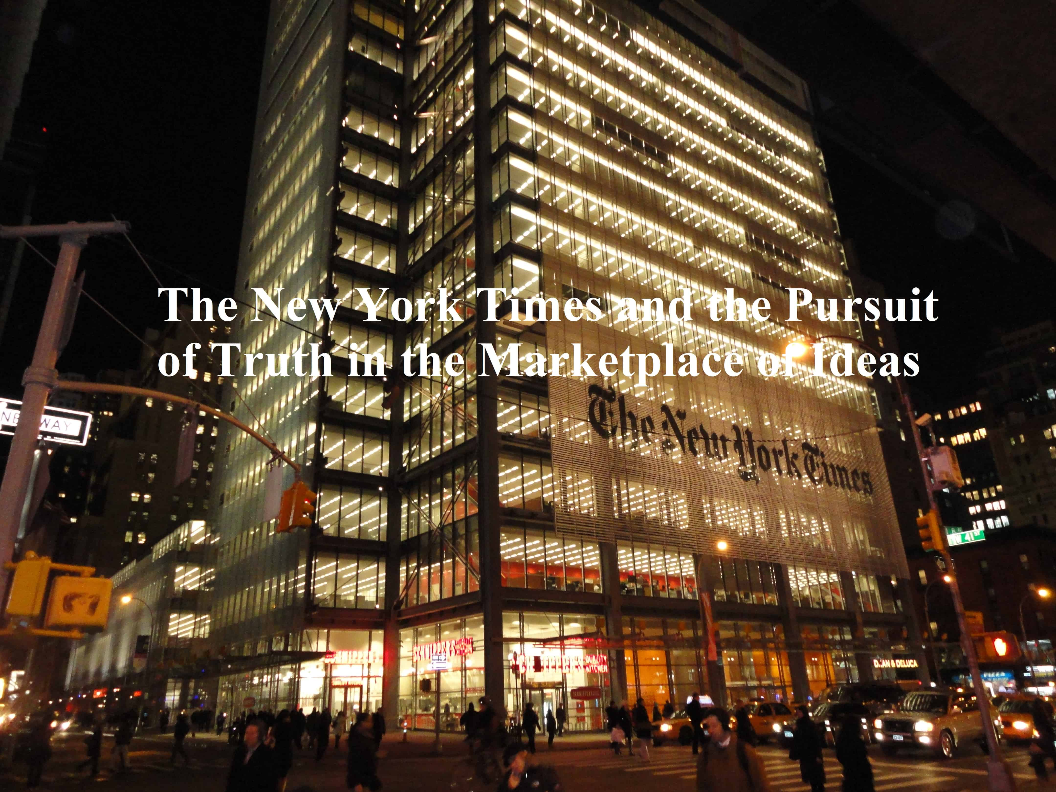 Pursuit, The New York Times and the Pursuit of Truth in the Marketplace of Ideas, Servants of Grace, Servants of Grace