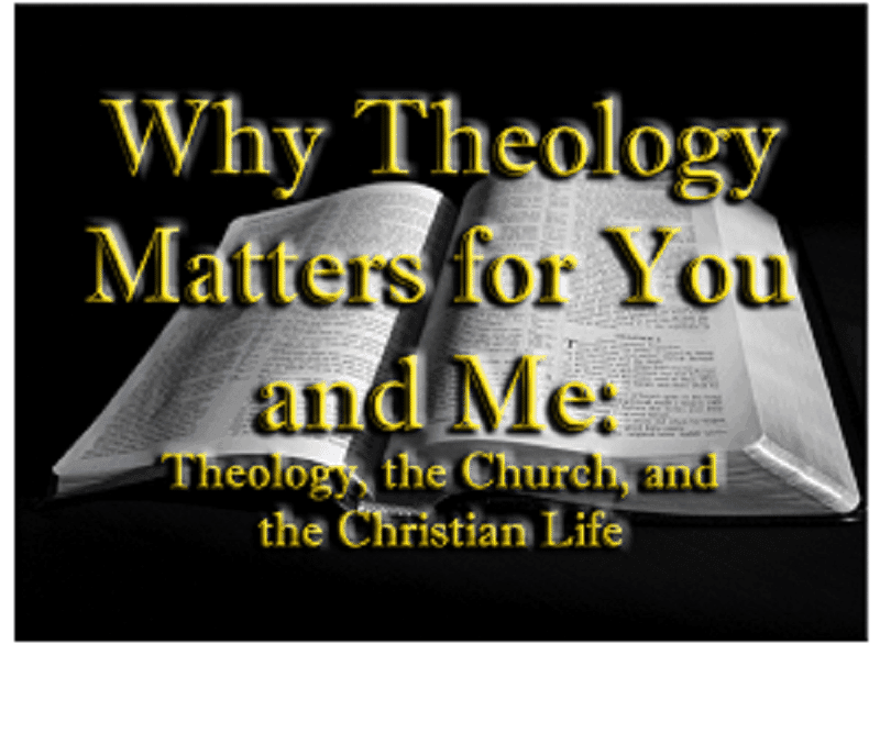 Theology, Why Theology Matters for You and Me: Theology, the Church, and the Christian Life, Servants of Grace