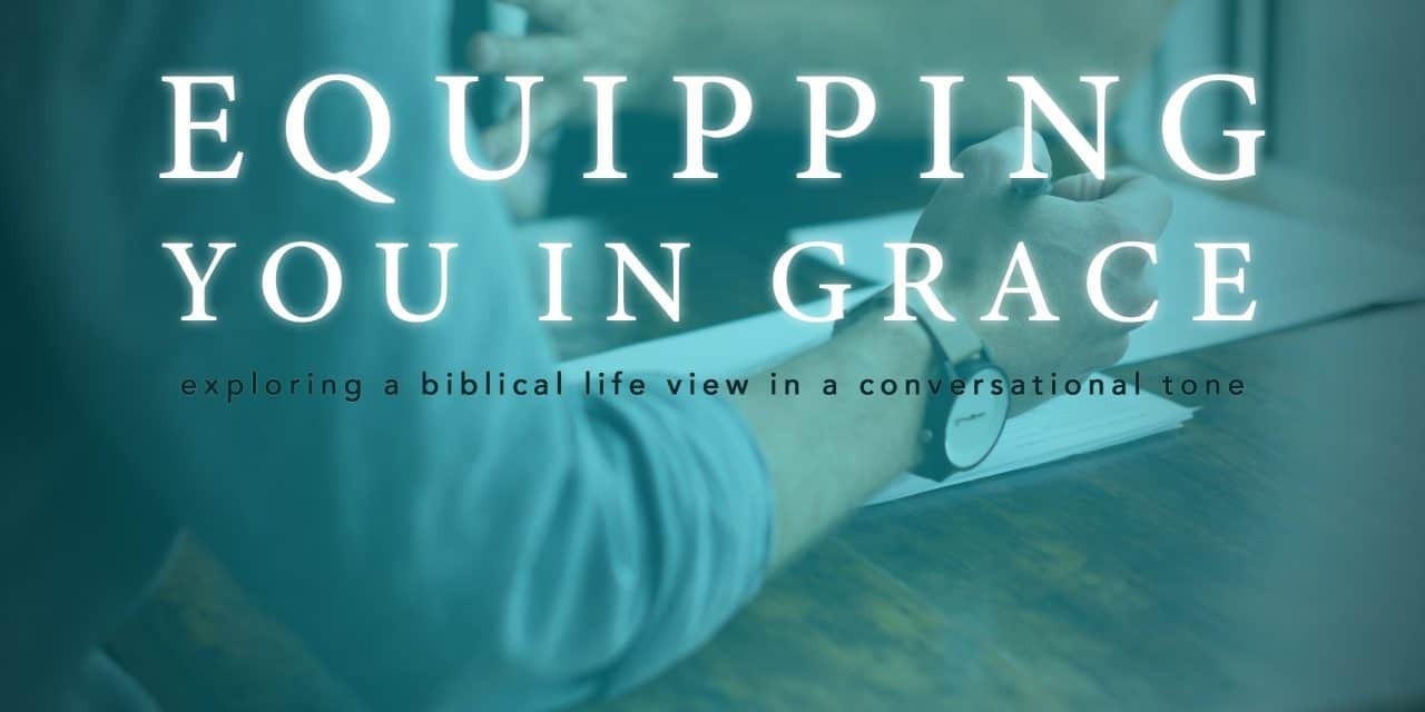 An Apology About the Sound Quality on Equipping You in Grace and An Explanation