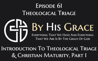 Introduction to Theological Triage and Christian Maturity Part 1