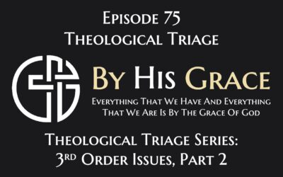 Theological Triage – 3rd Level Issues, Part 2
